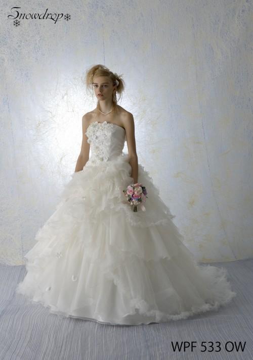 (花嫁衣裳)(ウェディングドレスレンタル)(貸衣裳)ウェディングドレス 563